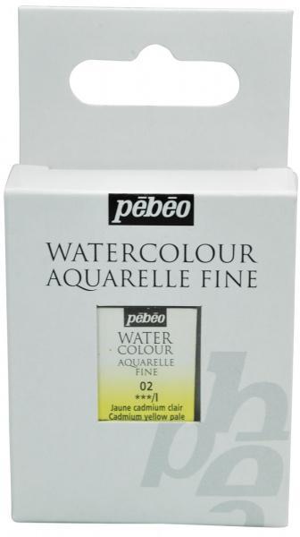 Aquarelle Fine 1/2 pan Pebeo - 02 Cadmium yellow pale