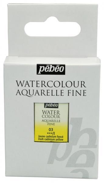 Aquarelle Fine 1/2 pan Pebeo - 03 Dark cadmium yellow