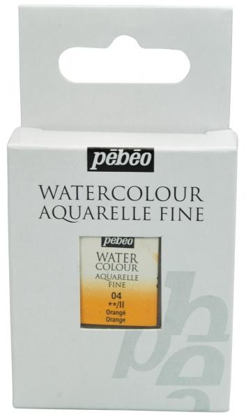 Aquarelle Fine 1/2 pan Pebeo - 04 Orange