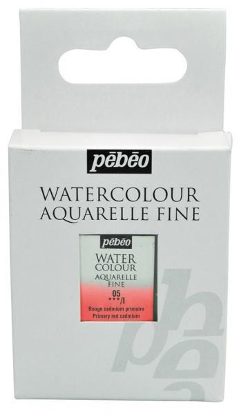 Aquarelle Fine 1/2 pan Pebeo - 05 Primary red cadmium