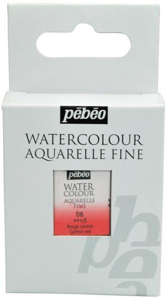 Aquarelle Fine 1/2 pan Pebeo - 06 Carmine