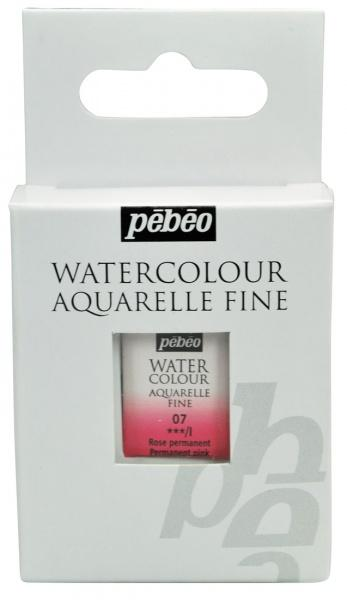 Aquarelle Fine 1/2 pan Pebeo - 07 Permanent pink