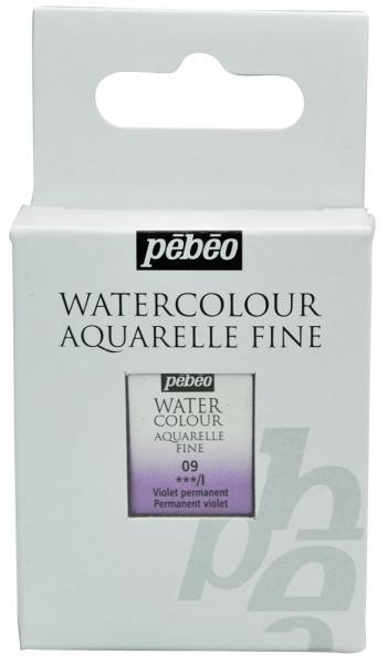 Aquarelle Fine 1/2 pan Pebeo - 09 Permanent violet