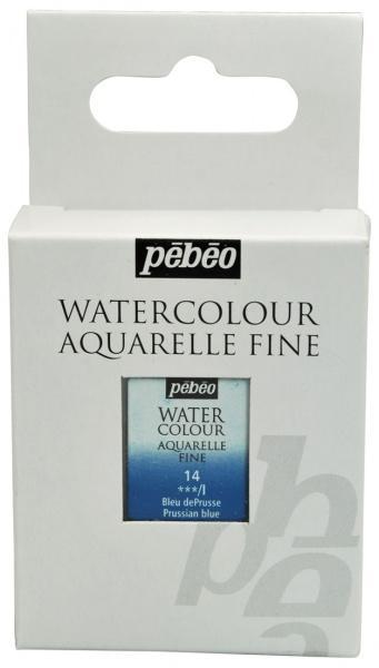 Aquarelle Fine 1/2 pan Pebeo - 14 Prussian blue