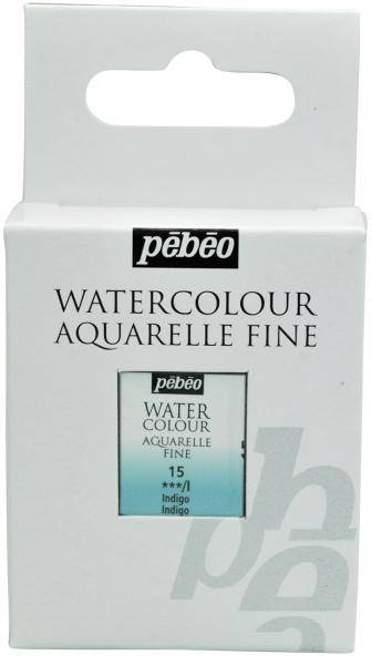 Aquarelle Fine 1/2 pan Pebeo - 15 Indigo