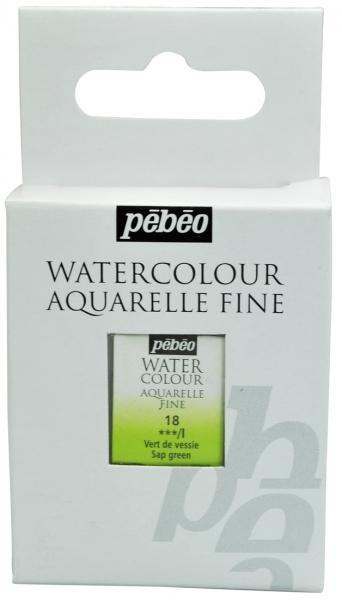 Aquarelle Fine 1/2 pan Pebeo - 18 Sap green