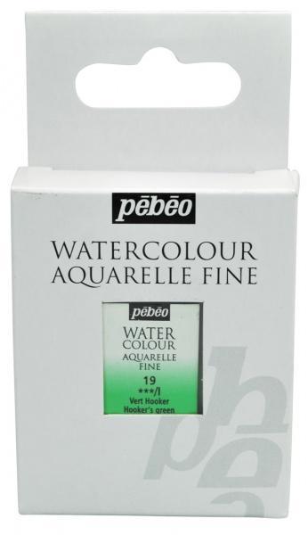 Aquarelle Fine 1/2 pan Pebeo - 19 Hooker's green
