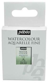 Aquarelle Fine 1/2 pan Pebeo - 20 Earth green