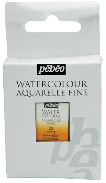 Aquarelle Fine 1/2 pan Pebeo - 23 Burnt sienna