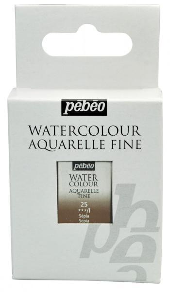 Aquarelle Fine 1/2 pan Pebeo - 25 Sepia
