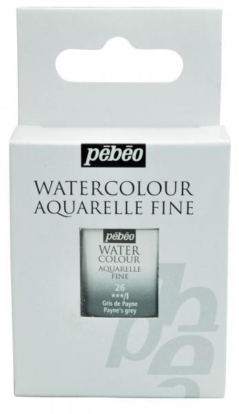 Aquarelle Fine 1/2 pan Pebeo - 26 Payne's grey