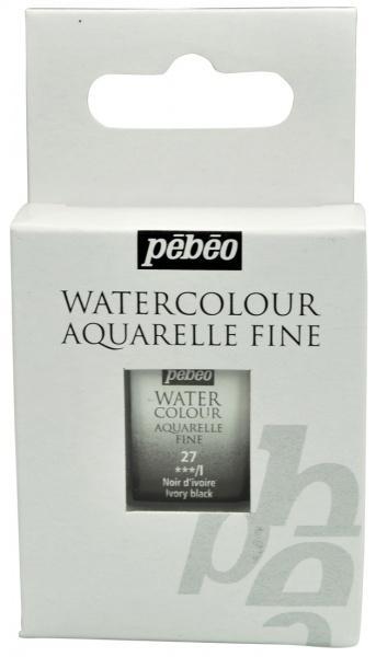 Aquarelle Fine 1/2 pan Pebeo - 27 Ivory black