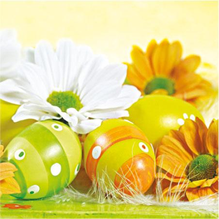 Салфетка PAW - Великденски яйца и цветя