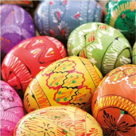 Салфетка PAW -Боядисани яйца