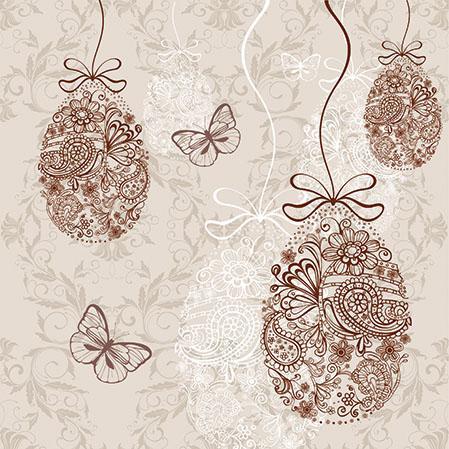Салфетка PAW - Яйца на цветя и пеперуди