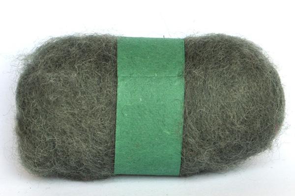 Вълна кафяво-зелено - 25 гр.