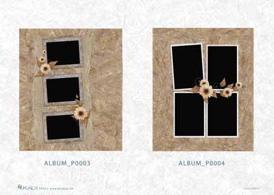 Хартия за декупаж на албуми KALit 0003-4
