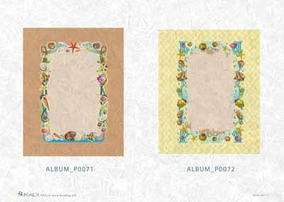 Хартия за декупаж на албуми KALit 0071-72