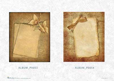 Хартия за декупаж на албуми KALit 0053-54