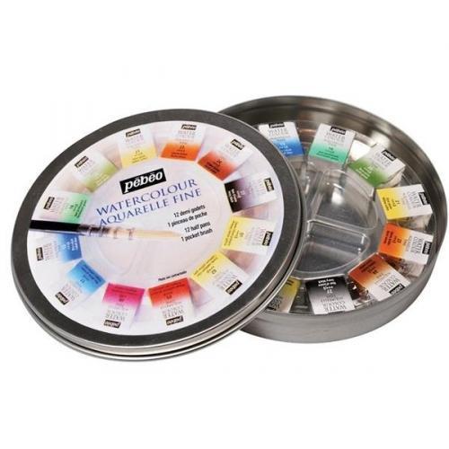 Комплект Водни бои Pebeo - 12 цвята