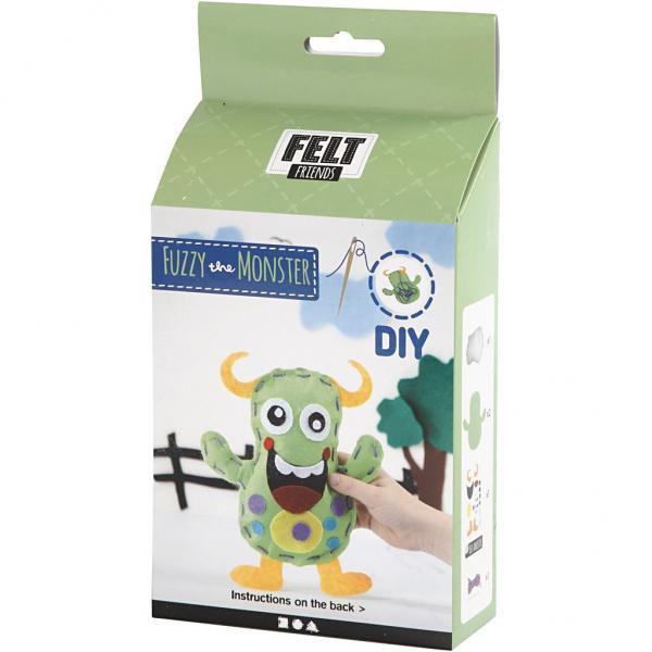 Направи си сам Funny Friends - зелено чудовище 21,5x18 cm