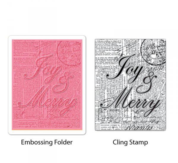Textured Impressions Embossing Folder - Stamp - Joy and Merry Set by Hero Arts