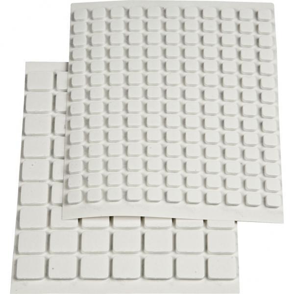 3D лепенки бели микс 11х12х2 mm и 6х6х2 мм, 2 листа 217 бр.