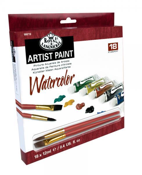 Комплект Водни бои Royal Langnickel - 18 цвята