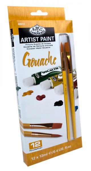 Комплект темперни бои Royal Langnickel, 12 цвята