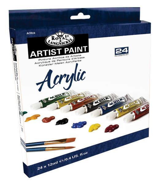 Комплект Акрилни бои Royal Langnickel - 24 цвята