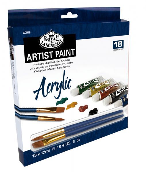 Комплект Акрилни бои Royal Langnickel - 18 цвята