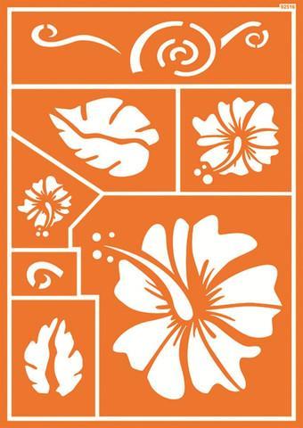 Шаблон за текстил Хавайски цветя 30 х 21 см
