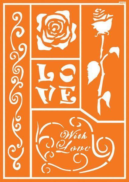 Шаблон за текстил Романтична роза 30 х 21 см