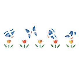 Шаблон лалета с пеперуди, 13 х 40 см