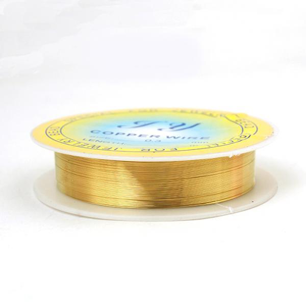 Медна тел за бижута злато 0,6мм - 5м.
