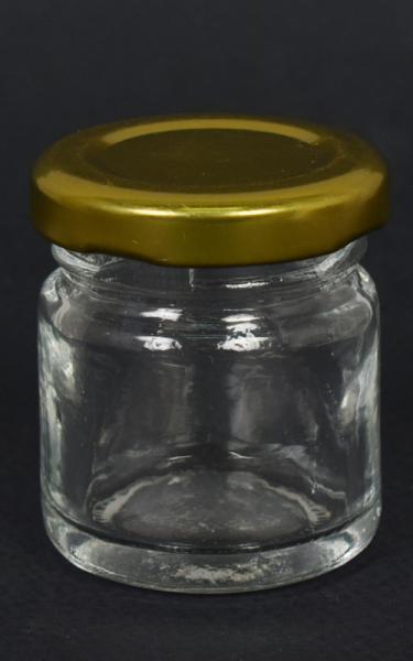 Стъклено бурканче 5х4см - 000589