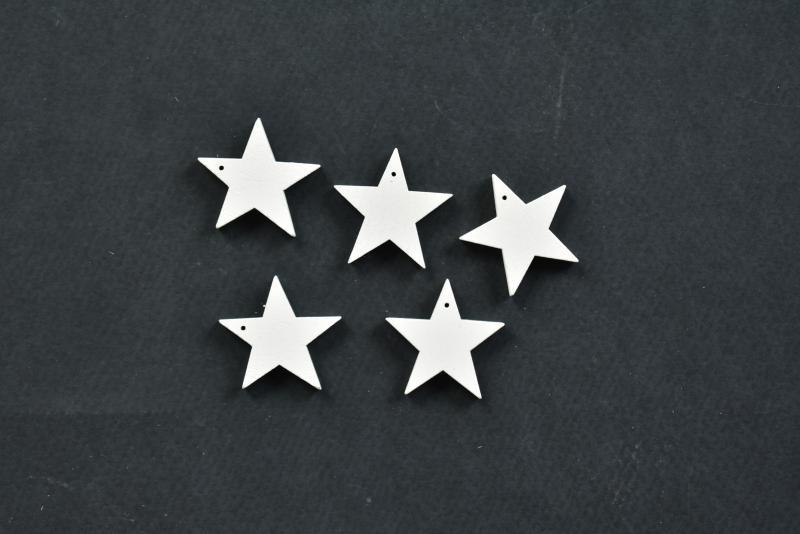 Дървени звезди 3см.- 5бр