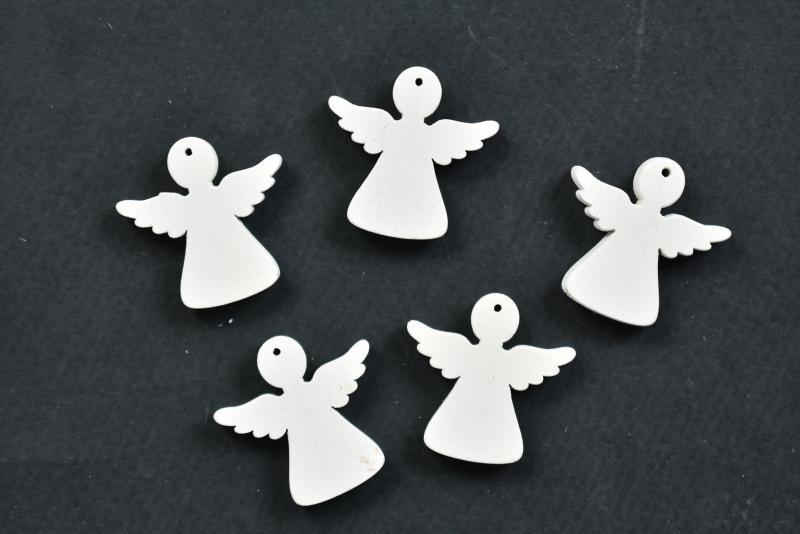 Дървени ангелчета - 3 х3 см-5бр
