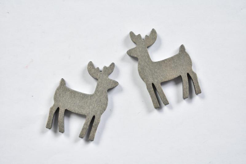 Дървени еленчета  - 2бр - 50х35 мм