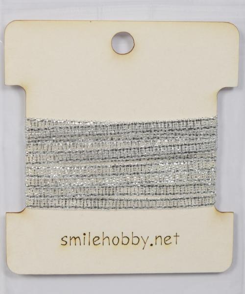 Текстилна лента сребърна 4 мм - 1м