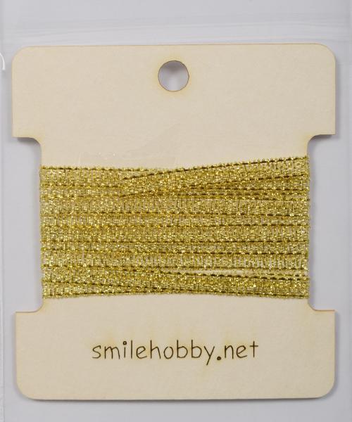 Текстилна лента златна 4 мм - 1м