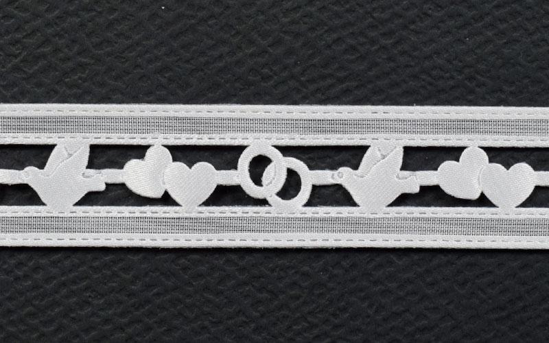 Текстилна декоративна лента сатен - 1м.
