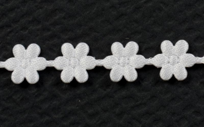 Декоративна дантела цвете - 1м. бяла