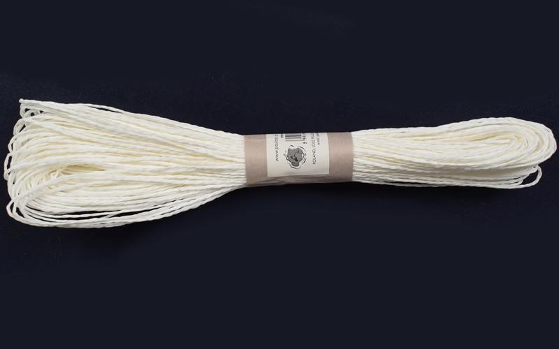 Хартиен шнур 45м. -  бяло