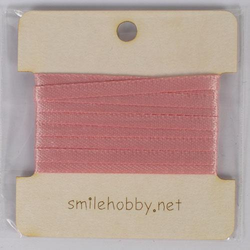 Текстилна декоративна лента  - 2м.- 3мм- розово