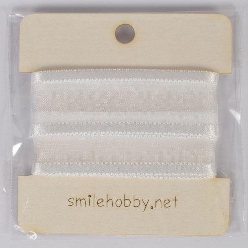 Текстилна декоративна лента  - 1м.- 2см- бяла