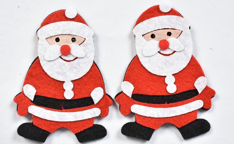 Дядо Коледа от филц 8,5х6см- 2бр