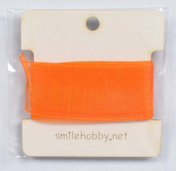 Декоративна лента органза 1м. - 25мм- оранжева