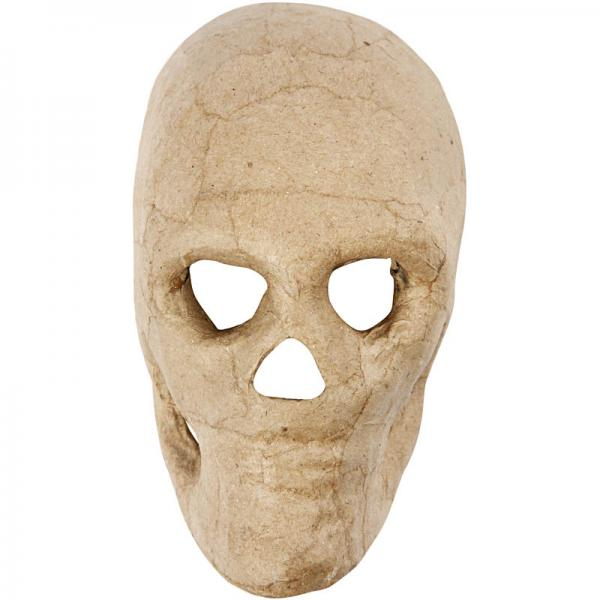 Маска скелет папие-маше 13 см