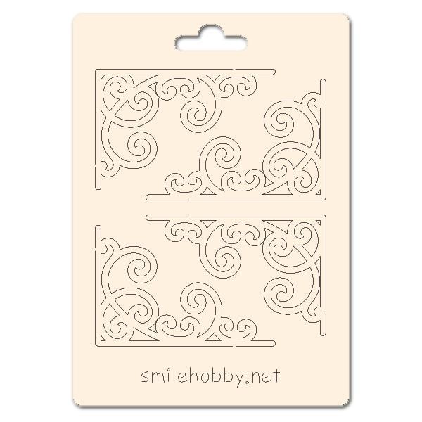 Сет от бирен картон 7х10см - Флорални елементи 15
